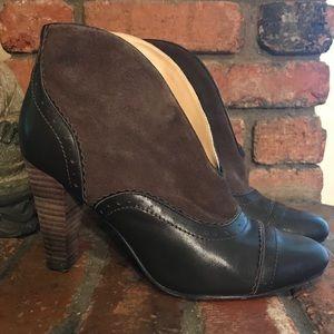 SUNDANCE Suede & Leather Granny Heeled Bootie 7.5